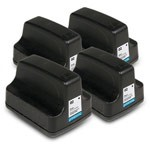 4 Pack Compatible HP 02 C8721WN Black