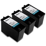 3 Pack Compatible Dell MK992 (Series 9) High Capacity Black Ink Cartridge