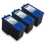 3 Pack Compatible Dell MK993 (Series 9) High Capacity Color Ink Cartridge