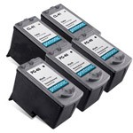 5 Pack Compatible Canon PG-40 Black Ink Cartridge and Canon CL-41 Color Ink Cartridge