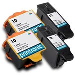 4 Pack Compatible Kodak 10 Color and Black ink Cartridge Set