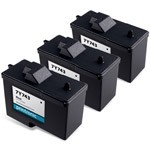 3 Pack Compatible Dell 7Y743 (Series 2) Black Ink Cartridge