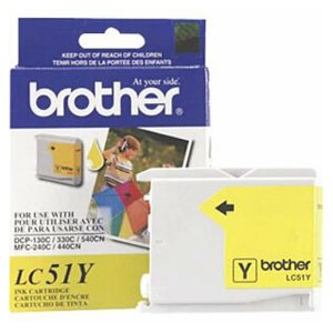Genuine Brother LC-51Y Yellow Ink Cartridge