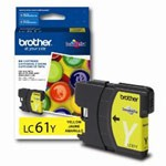 Genuine Brother LC-61Y Yellow Ink Cartridge