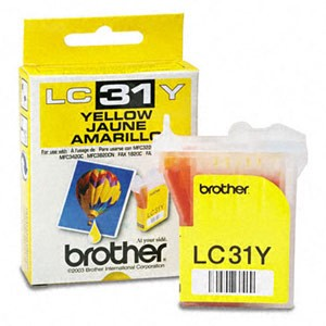 Genuine Brother LC-31Y Yellow Ink Cartridge