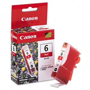 Genuine Canon BCI-6R - 8891A003 Red Ink Cartridge