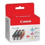 Genuine Canon CLI-8 (0621B016) Color Ink Cartridge Multipack