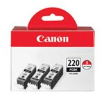 Genuine Canon PGI-220 (2945B004) High Capacity Black Ink Cartridge 3 Pack