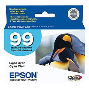 Genuine Epson T099520 Claria Ultra Hi-Definition Standard Capacity Light Cyan Ink Cartridge