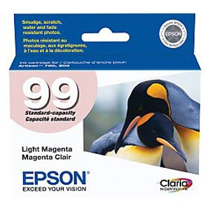 Genuine Epson T099620 Claria Ultra Hi-Definition Standard Capacity Light Magenta Ink Cartridge