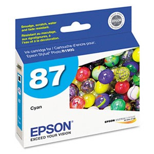 Genuine Epson T087220 Cyan Ink Cartridge