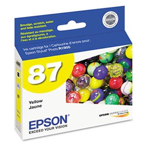 Genuine Epson T087420 Yellow Ink Cartridge