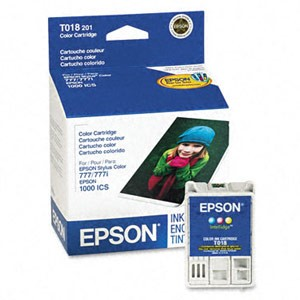 Genuine Epson T018201 Color Ink Cartridge