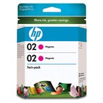 Genuine Hewlett Packard (CD997FN) HP02 Magenta Ink Cartridge 2 Pack