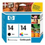Genuine Hewlett Packard (C9337FN) HP 14 Ink Cartridge Combo Pack