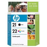 Genuine Hewlett Packard (C9509FN) HP 21 & HP 22 Ink Cartridge Combo Pack