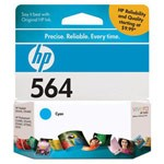 Genuine Hewlett Packard (CB318WN) HP 564 Cyan Ink Cartridge