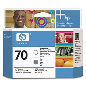 Genuine Hewlett Packard (C9410A) HP 70 Gray/Gloss Enhancer Printhead