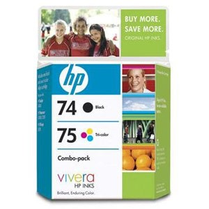 Genuine Hewlett Packard (CC659FN) HP 74 & HP 75 Ink Cartridge Combo Pack