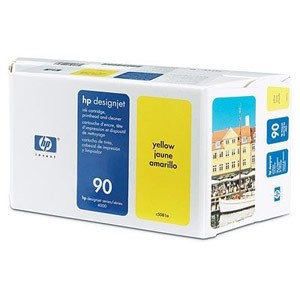 Genuine Hewlett Packard (C5081A) HP 90 Yellow Ink Cartridge and Printhead  Value Pack