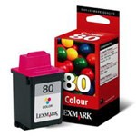 Genuine Lexmark (12A1980) #80 Standard Yield Color Ink Cartridge