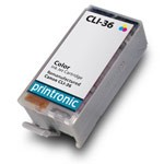 Compatible Canon CLI-36 (1511B002) Color Ink Cartridge w/ Chip