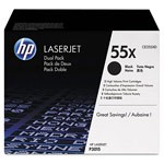 Genuine HP 55X (CE255XD) Black Smart Print Cartridge Dual Pack (2 Pack of CE255X)