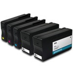 Printronic Remanufactured Ink Cartridge Replacement for HP 950 and HP 951 CMYK - 5 Pack