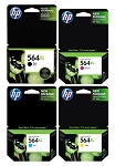 Genuine HP 564XL Ink Cartridge - 4 Pack