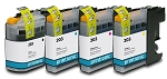 Compatible Brother LC-203 Ink Cartridge 4-Pack