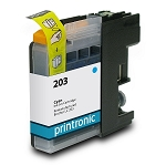 Compatible Brother LC-203 High Yield Cyan Ink Cartridge