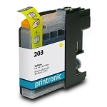 Compatible Brother LC-203 High Yield Yellow Ink Cartridge