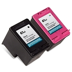 Compatible HP 61XL Black and HP 61XL Color - 2 Pack
