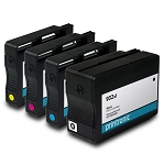 Remanufactured for HP 932XL and HP 933XL Ink Cartridge - 4 Pack