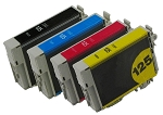 4 Pack of Compatible Epson 125 Ink Cartridge (B/C/M/Y)