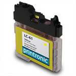 Compatible Brother LC-61Y Yellow Ink Cartridge