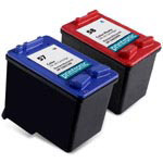 Compatible HP 57 Color Ink Cartridge and HP 58 Photo Ink Cartridge - 2 Pack