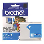 Genuine Brother LC-51C Cyan Ink Cartridge