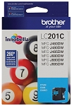 Genuine Brother LC-201C Cyan Ink Cartridge