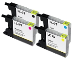 Compatible Brother LC-75 Ink Cartridge - 4 Pack