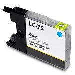 Compatible Brother LC-75 Cyan Ink Cartridge