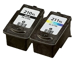 Compatible Canon PG-210XL and Canon CL-211XL Ink Cartridge - 2 Pack