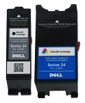 Genuine Dell Series 24 X768N X769N Ink Cartridge - 2 Pack