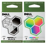 Genuine Dell Series 7 CH883 CH884 Ink Cartridge - 2 Pack