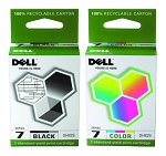 Genuine Dell Series 7 DH828 DH829 Ink Cartridge - 2 Pack