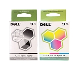Genuine Dell Series 9XL MK992 MK993 Ink Cartridge - 2 Pack