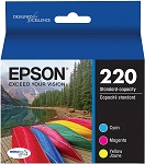 Genuine Epson 220 Ink Cartridge - 3 Pack
