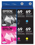 Genuine Epson 69 Ink Cartridge - 4 Pack