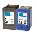 Compatible HP 21 and HP 22 Ink Cartridge - 2 Pack