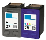 Compatible HP 27 and HP 28 Ink Cartridge - 2 Pack